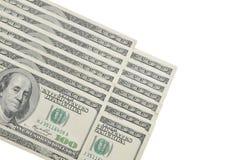 Dinero en circulación los E.E.U.U. 16 cientos cuentas de dólar Imagen de archivo