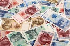 Dinero en circulación noruego Imagen de archivo libre de regalías