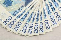 Dinero en circulación noruego Foto de archivo libre de regalías