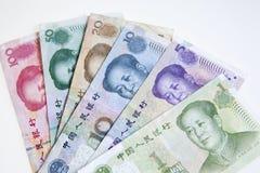 Dinero en circulación o yuan chino Imagen de archivo