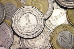 Dinero en circulación polaco Fotos de archivo libres de regalías