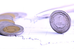 Dinero en circulación polaco Foto de archivo libre de regalías