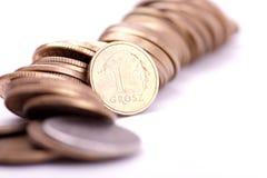 Dinero en circulación polaco Fotografía de archivo libre de regalías