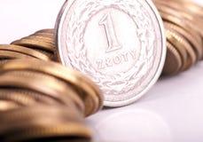Dinero en circulación polaco Foto de archivo