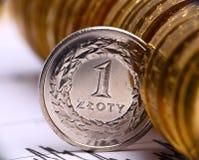 Dinero en circulación polaco Imagen de archivo