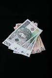 Dinero en circulación polaco Fotos de archivo