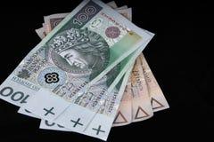 Dinero en circulación polaco Fotografía de archivo