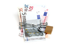 Dinero en circulación protegido imagen de archivo libre de regalías