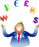 Dinero en circulación que hace juegos malabares ilustración del vector
