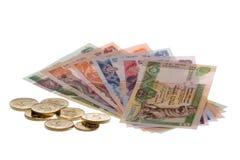 Dinero en circulación srilanqués aislado imagenes de archivo