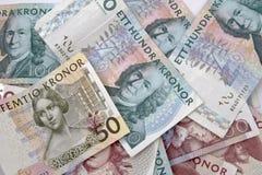 Dinero en circulación sueco Fotografía de archivo