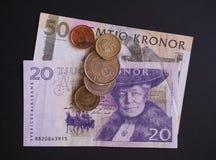 Dinero en circulación sueco Imágenes de archivo libres de regalías