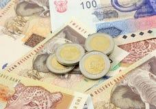 Dinero en circulación surafricano fotografía de archivo