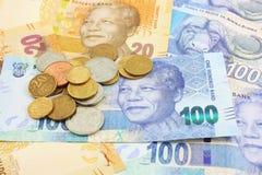 Dinero en circulación surafricano Imagen de archivo