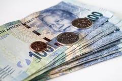 Dinero en circulación surafricano Foto de archivo libre de regalías