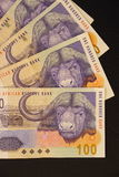 Dinero en circulación surafricano Foto de archivo