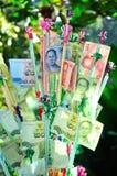 Dinero en circulación tailandés fotos de archivo libres de regalías