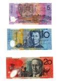 Dinero en circulación australiano Fotografía de archivo libre de regalías