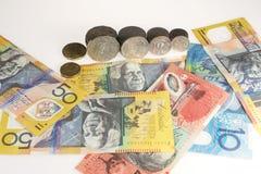 Dinero en circulación australiano Imágenes de archivo libres de regalías