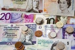 Dinero en circulación BRITÁNICO Imagenes de archivo