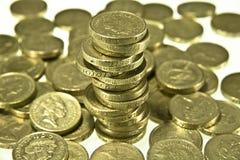 Dinero en circulación británico Imágenes de archivo libres de regalías