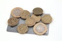 Dinero en circulación (británico) británico Fotos de archivo libres de regalías