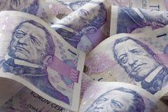 Dinero en circulación checo Imágenes de archivo libres de regalías