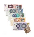 Dinero en circulación danés Imagenes de archivo