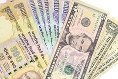 Dinero en circulación de la rupia india Imagen de archivo libre de regalías