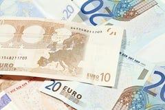 Dinero en circulación de la zona euro Imágenes de archivo libres de regalías