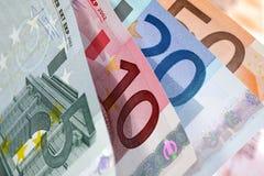 Dinero en circulación europeo Fotografía de archivo