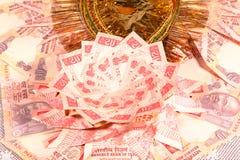 Dinero en circulación indio Foto de archivo