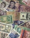 Dinero en circulación internacional Fotos de archivo