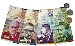 Dinero en circulación israelí Imagen de archivo