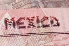 Dinero en circulación mexicano Fotografía de archivo