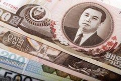 Dinero en circulación norcoreano Imagen de archivo libre de regalías
