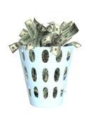 Dinero en el compartimiento Fotos de archivo libres de regalías