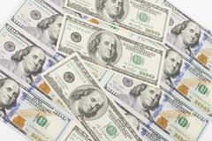 Dinero en el fondo blanco Fotografía de archivo