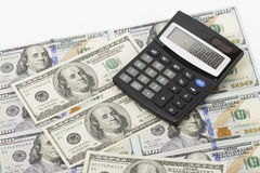 Dinero en el fondo blanco Fotografía de archivo libre de regalías