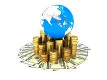 Dinero en el mundo Fotografía de archivo