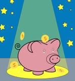 Dinero en el proyector ilustración del vector
