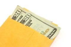 Dinero en el sobre 02 fotografía de archivo libre de regalías