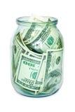 Dinero en el tarro Imagen de archivo libre de regalías