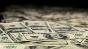 Dinero en el vector Siga el tiro del foco almacen de video