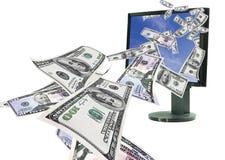 Dinero en línea Imagen de archivo libre de regalías