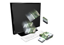 Dinero en línea Fotografía de archivo