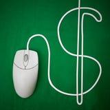 Dinero en línea Foto de archivo libre de regalías