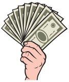 Dinero en la mano stock de ilustración