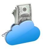 Dinero en la nube libre illustration