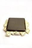 Dinero en maleta imagen de archivo